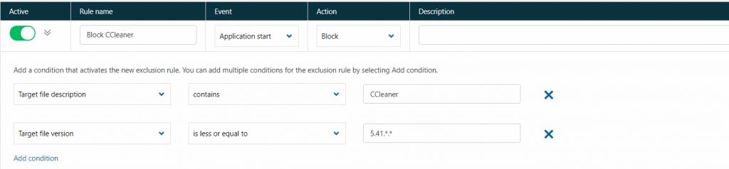 Blokowanie aplikacji po wersji