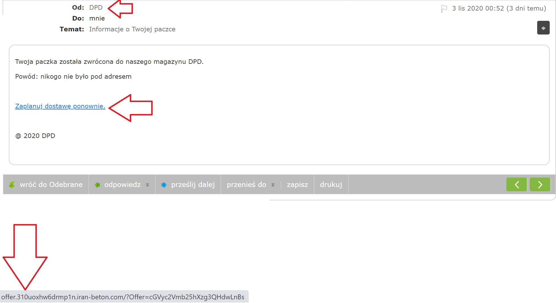 phishing dpd